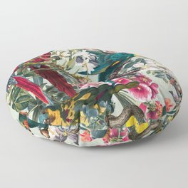 FLORAL AND BIRDS XXII Floor Pillow
