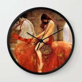 1897 Classical Masterpiece 'Lady Godiva' by John Collier Wall Clock