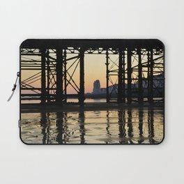 Hastings pier afterglow Laptop Sleeve