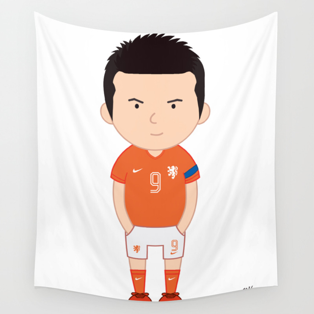 Robin Van Persie - Netherlands - World Cup 2014 Wall Tapestry by Toonsoccer TPS9019159