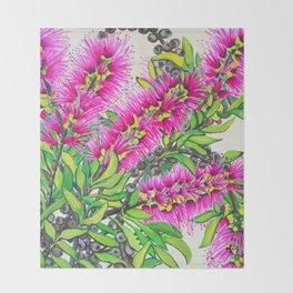 Callistemon Throw Blanket