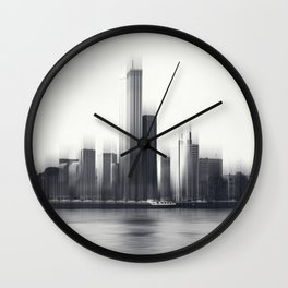 Rotterdam Skyline Abstraction Wall Clock