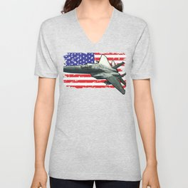 F15 Fighter Eagle for Military Aviation Fan  Product Unisex V-Neck