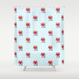 My heart goes faster for you pattern Shower Curtain