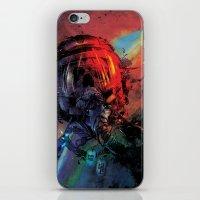 spaceman iPhone & iPod Skins featuring Spaceman by Karen Donald