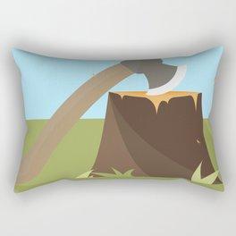 Wood Cutting Rectangular Pillow