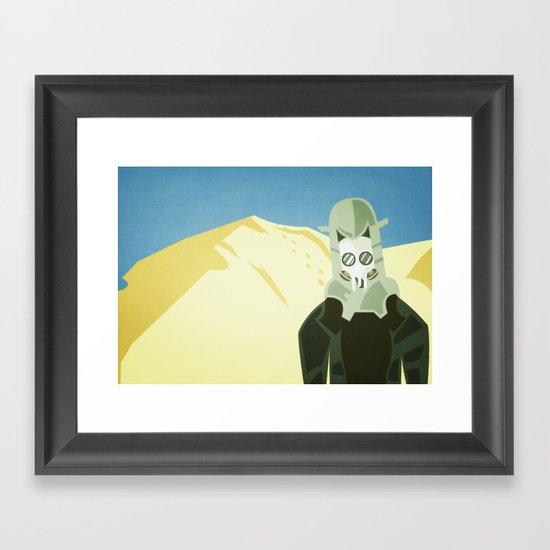 Hot Here Framed Art Print