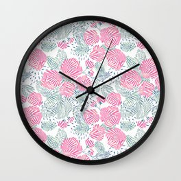 Delicate floral abstract pattern. 1 Wall Clock