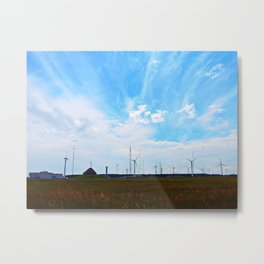North Cape Wind Farm Metal Print