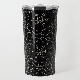 Antique Black and Gold Pattern Design Travel Mug