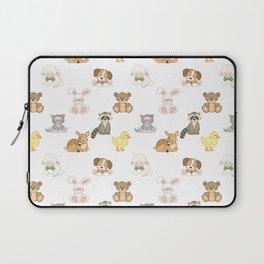 Cute Woodland Farm Baby Animals Nursery Laptop Sleeve