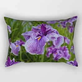 Garden Party (irises) Rectangular Pillow