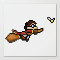 quidditch Canvas Prints featuring Quidditch by Yildiray Atas