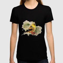 Goldfinch Watercolor Art T-shirt