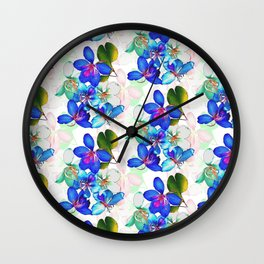 Saturated Bloom 2 Wall Clock