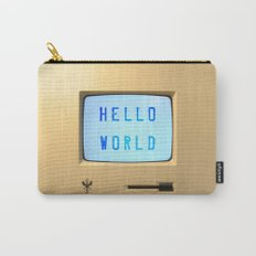 Hello World Personal Computer Carry-All Pouch