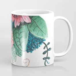 Ruby Botanical 3 Floral Watercolor Coffee Mug
