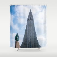 twin peaks Shower Curtains featuring Twin Peaks by Alex Tonetti Photography