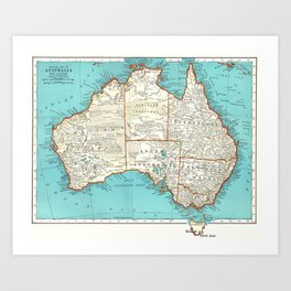 Australia; re-imagined Art Print
