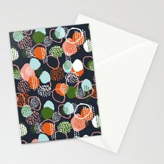 Jonlee - abstract painting watercolor pastel brushstrokes black yellow modern minimal shapes circles Stationery Cards