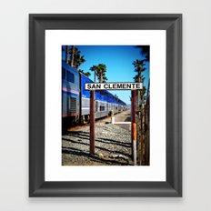 San Clemente Surfliner Framed Art Print