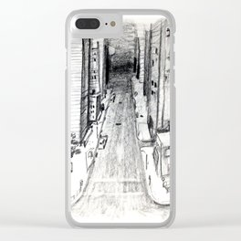 City (Jazz Sign) Clear iPhone Case
