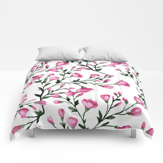 Blossoming branches Comforters