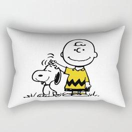 carly and snoopy Rectangular Pillow