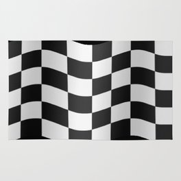 Checkered flag Rug