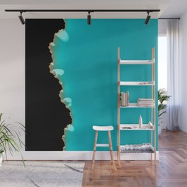 Creeping Teal with a Gold Edge Wall Mural