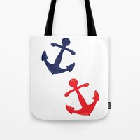 anchors Tote Bags featuring Anchors by Indulge My Heart