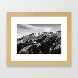 Black and White Mountains Framed Art Print