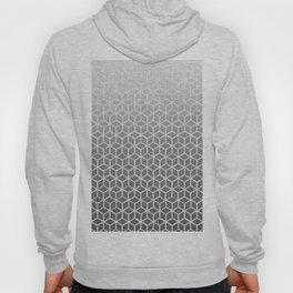 Cubes pattern black glitter Hoody