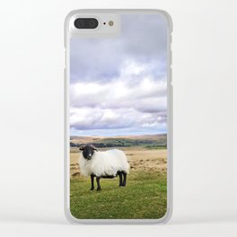 English Countryside Landscape and Sheep Clear iPhone Case