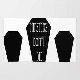 HIPSTERS DON'T DIE Rug