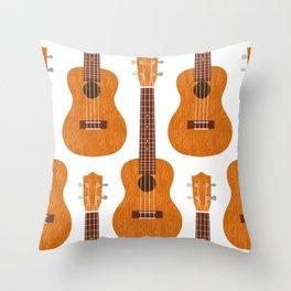 Ukulele pattern Throw Pillow