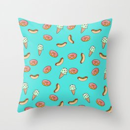 Sweet and desserts Throw Pillow