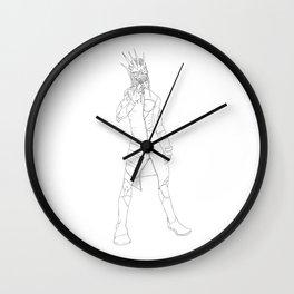 Little Boys... (lineart) Wall Clock