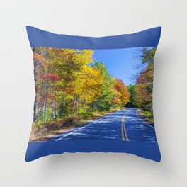 New Hampshire country road Throw Pillow
