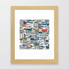 Small Part Of Town Ornament Framed Art Print