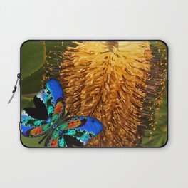 Butterfly on Banksia Laptop Sleeve