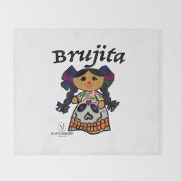 Brujita Calacas Throw Blanket