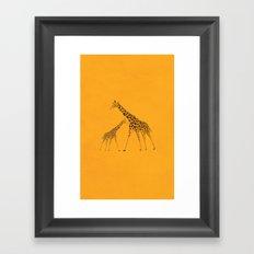 Wild Animal Giraffe Picture Framed Art Print