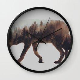 Norwegian Woods: The Wolf Wall Clock