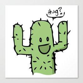 Hug? cactus free hug Canvas Print