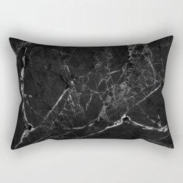 Black Marble Print II Rectangular Pillow