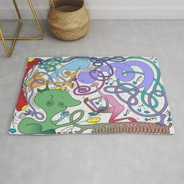 Mr Squiggly Ragamuffin Band Rug