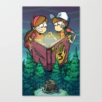 gravity falls Canvas Prints featuring Gravity Falls by Dinolich
