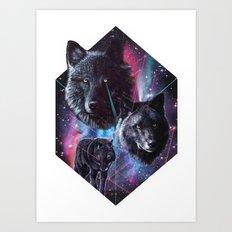 >>WOLF DREAMIN Art Print