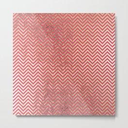 Magenta faux gold elegant chevron geometrical pattern Metal Print